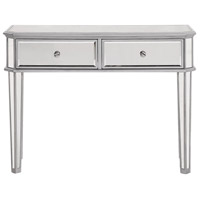 Chamberlan 41 X 17 inch Silver Console Table Home Decor, 2-Drawer, Rectangle, Clear Mirror