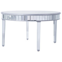 Elegant Lighting MF6-1037S Contempo 60 inch Silver Paint Round Table Home Decor