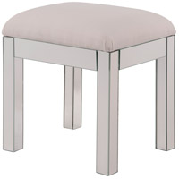 Contempo Silver Paint Dressing Stool Home Decor