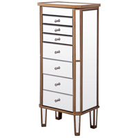 Elegant Lighting MF6-1103GC Contempo 41 inch Gold Paint Jewelry Armoire