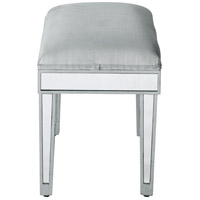 Reflexion Antique Hand Rubbed Silver Dressing Stool Home Decor