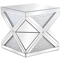 Elegant Lighting MF92004 Modern 24 X 23 inch Clear Mirror End Table