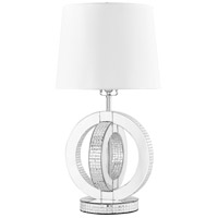 Sparkle 26 inch 60 watt Silver Table Lamp Portable Light