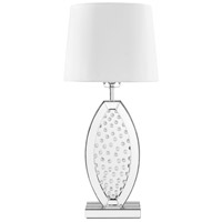 Sparkle 30 inch 60 watt Silver Table Lamp Portable Light