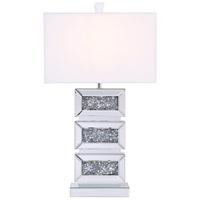 Elegant Lighting ML9336 Sparkle 26 inch 40 watt Chrome Table Lamp Portable Light