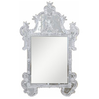 Murano 48 X 31 inch Sliver and Clear Mirror Mirror Home Decor in Silver and Clear Mirror