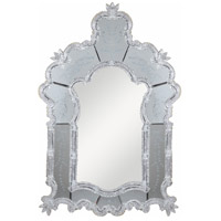 Murano 49 X 33 inch Sliver and Clear Mirror Wall Mirror Home Decor in Silver and Clear Mirror