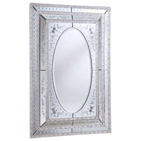 Murano 52 X 35 inch Sliver and Clear Mirror Mirror Home Decor in Silver and Clear Mirror