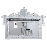 Elegant Lighting Murano 58-in. Mirror in Silver and Clear Mirror MR-1005S