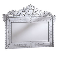 Venetian 59 X 59 inch Silver and Clear Mirror Mirror Home Decor