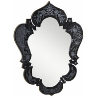 Elegant Lighting Venetian 25.6-in. Mirror in Black Mirror MR-2010BK