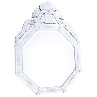 Elegant Lighting MR-2032 Venetian 40 X 30 inch Clear Mirror Wall Mirror