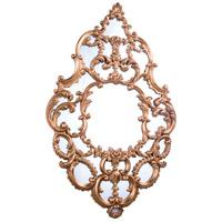 Elegant Lighting Antique Mirror in Antique Gold Leaf MR-2044
