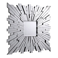 Elegant Lighting MR-3006C Modern 47 X 47 inch Clear Mirror Wall Mirror