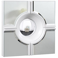 Elegant Lighting Modern 24-in. Mirror in White Lacquer and Clear Mirror MR-3018W
