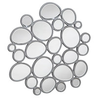 Modern 31 X 31 inch Clear Wall Mirror, Irregular