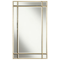 Florentine 36 X 22 inch Gold and Clear Mirror Wall Mirror Home Decor