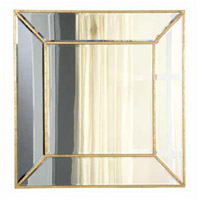 Elegant Lighting Manhattan 40-in. Wall Mirror in Gold and Clear Mirror MR2-1001GC
