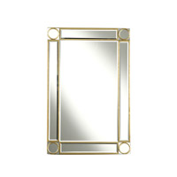 Elegant Lighting Audrey 36-in. Rectangular Mirror in Gold and Clear Mirror MR4-1001GC