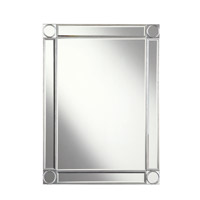 Elegant Lighting Audrey 40-in. Rectangular Mirror in Silver and Clear Mirror MR4-1002SC