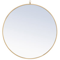 Elegant Lighting MR4058BR Eternity 32 X 32 inch Brass Wall Mirror