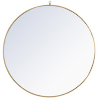 Elegant Lighting MR4065BR Eternity 42 X 42 inch Brass Wall Mirror
