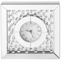 Sparkle Clear Table Clock