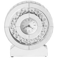 Elegant Lighting MR9117 Sparkle Clear Table Clock