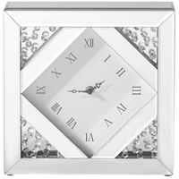 Elegant Lighting MR9118 Sparkle Clear Table Clock