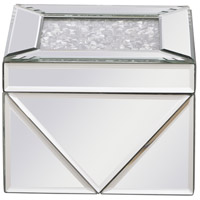 Modern 6 X 6 inch Clear Mirror Jewelry Box