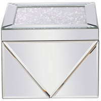 Modern 8 X 8 inch Clear Mirror Jewelry Box