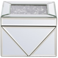 Modern 5 X 5 inch Clear Mirror Jewelry Box