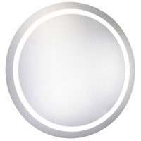 Elegant Lighting MRE-6005 Nova 30 X 30 inch Glossy White Lighted Wall Mirror in 5000K, Dimmable, 5000K, Round, Fog Free