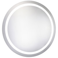 Elegant Lighting MRE-6006 Nova 36 X 36 inch Glossy White Lighted Wall Mirror in 5000K, Dimmable, 5000K, Round, Fog Free