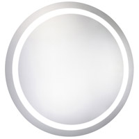 Nova 42 X 42 inch Glossy White Lighted Wall Mirror in 5000K, Dimmable, 5000K, Round, Fog Free