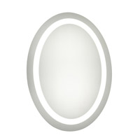 Nova 28 X 21 inch Glossy White Lighted Wall Mirror in 5000K, Dimmable, 5000K, Oval, Fog Free