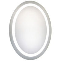 Nova 30 X 23 inch Glossy White Lighted Wall Mirror in 5000K, Dimmable, 5000K, Oval, Fog Free