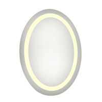 Elegant Lighting MRE-6018 Nova 28 X 21 inch Lighted Wall Mirror in 3000K, Dimmable, 3000K, Oval, Fog Free