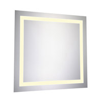 Elegant Lighting MRE-6020 Nova 28 X 28 inch Lighted Wall Mirror in 3000K, Dimmable, 3000K, Square, Fog Free