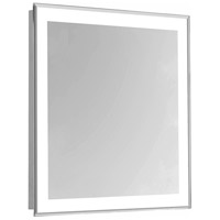 Nova Glossy White Lighted Wall Mirror in 5000K, Rectangle