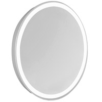 Nova Glossy White Lighted Wall Mirror in 5000K, Oval