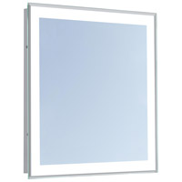 Nova 36 X 36 inch Glossy White Lighted Mirror Home Decor, Square