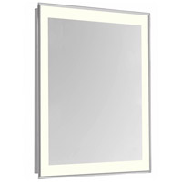 Nova 30 X 20 inch Glossy White Lighted Mirror Home Decor, Rectangle
