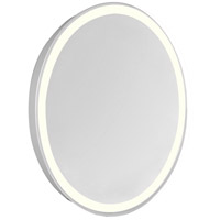 Nova Glossy White Lighted Wall Mirror in 3000K, Oval