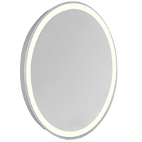 Nova 30 X 23 inch Glossy White Lighted Mirror Home Decor, Oval
