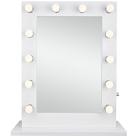 Elegant Lighting MRE8503K Hollywood 33 X 28 inch Gloss White Lighted Wall Mirror