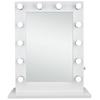 Elegant Lighting MRE8505K Hollywood 33 X 28 inch Gloss White Lighted Wall Mirror