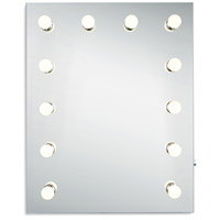 Elegant Lighting MRE8513K Hollywood 30 X 24 inch Silver Anodized Lighted Wall Mirror