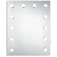 Elegant Lighting MRE8515K Hollywood 30 X 24 inch Silver Anodized Lighted Wall Mirror