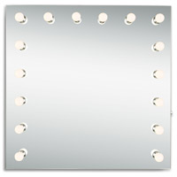 Elegant Lighting MRE8523K Hollywood 36 X 36 inch Silver Anodized Lighted Wall Mirror